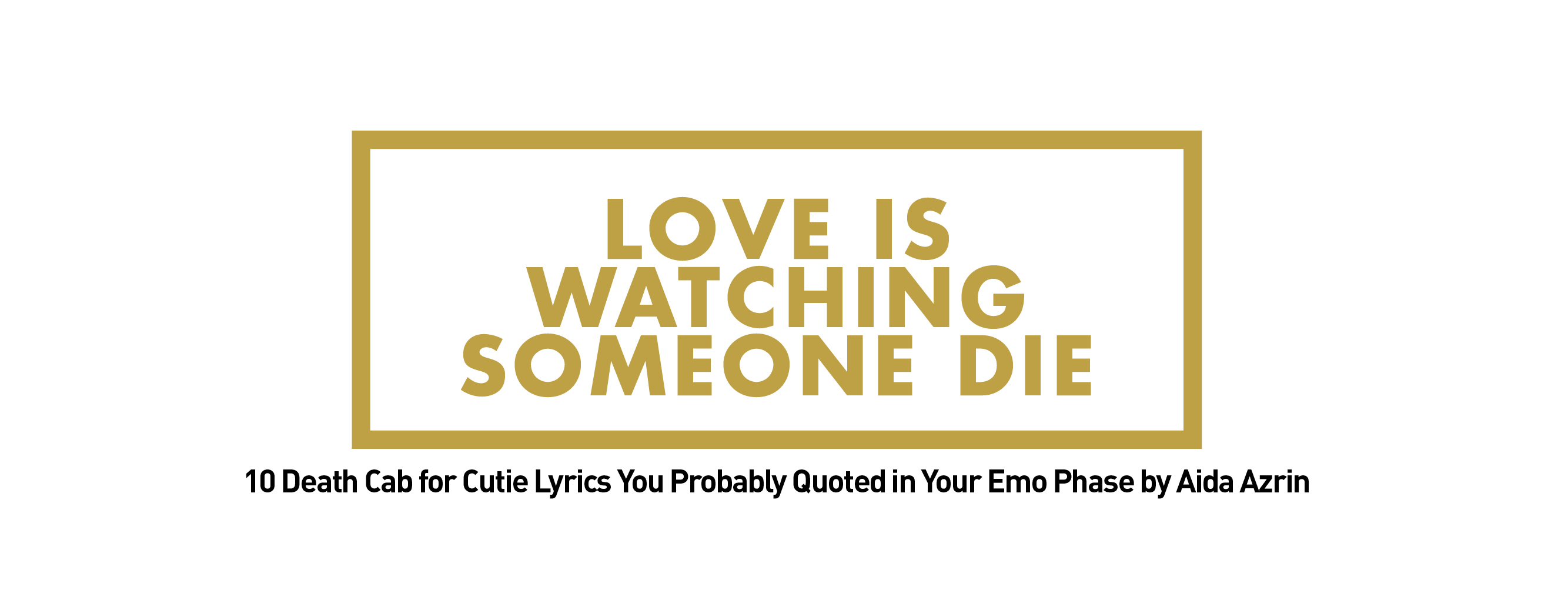 love is watching someone die