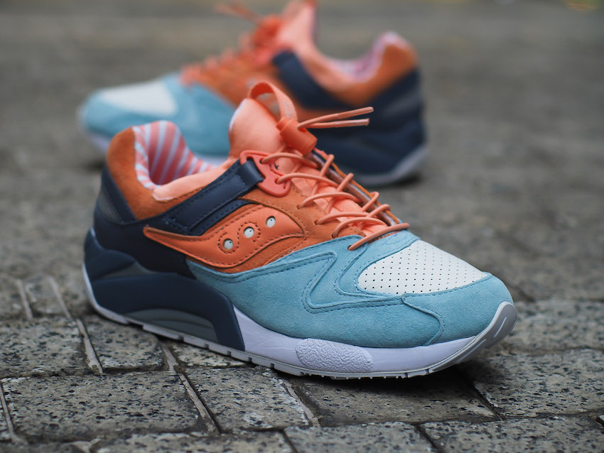 7b4a31a699e6 The Premier x Saucony Grid 9000  Sweets  will be available exclusively at  Sole What Sunway Pyramid on Saturday 14 May  16 at 10am. The shoes retail  at RM519 ...